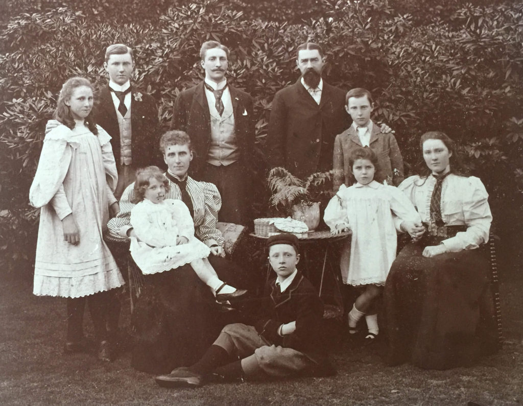 Oswald Cattley with his wife Margaret and their children