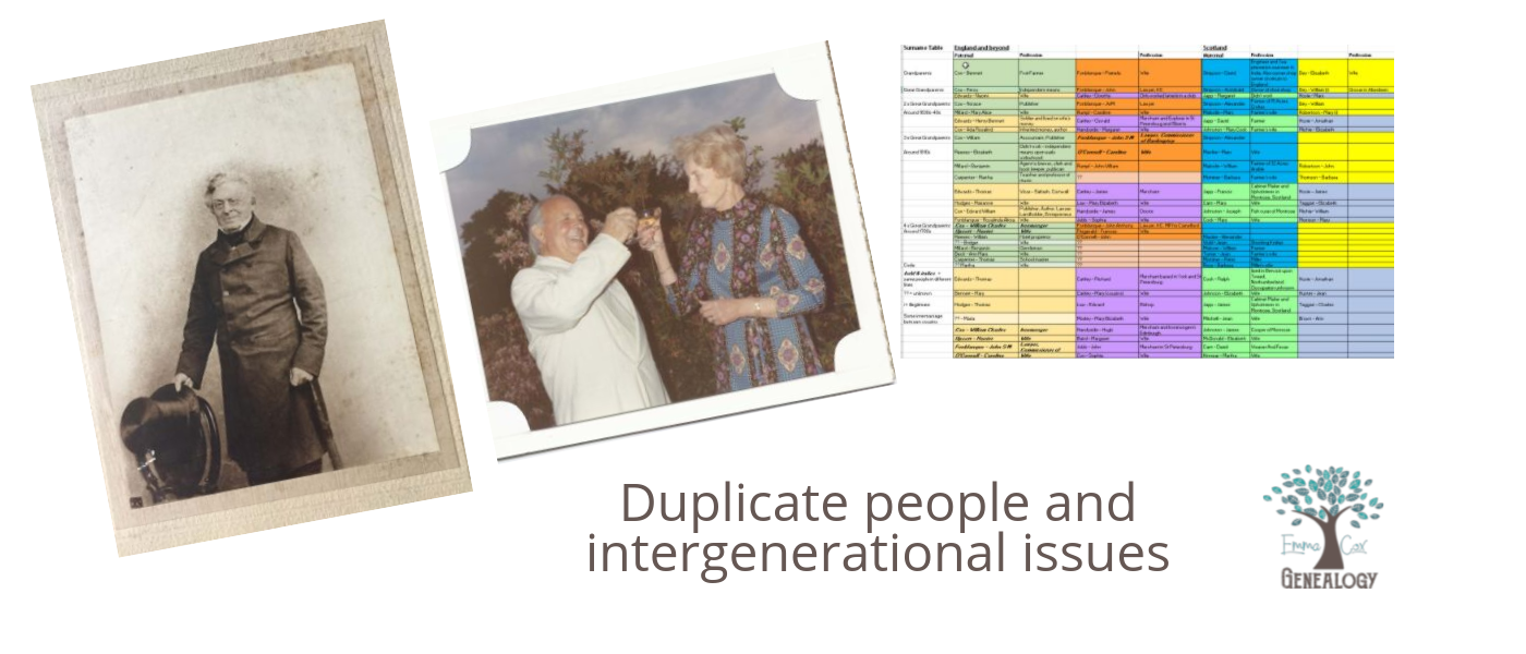 Read more about the article Duplicate people and different generations in your family tree