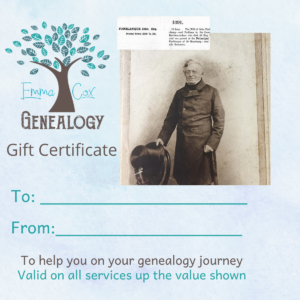 Genealogy Gift Vouchers